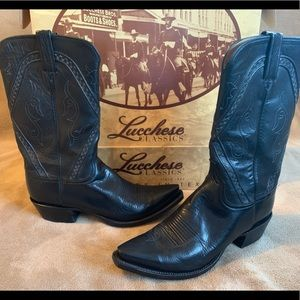 Lucchese 1662 Black Boots